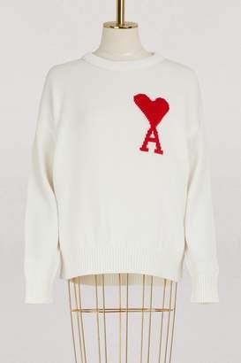 Ami Oversized logo sweater