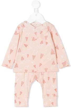 Stella McCartney Pink Ice Cream two-piece pyjama