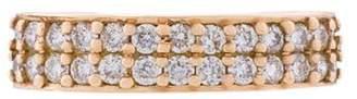 Anita Ko 18kt rose gold double row diamond ear cuff