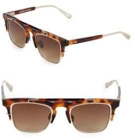 Linda Farrow Luxe Kris Vanassche x Linda Farrow Tortoiseshell 49MM Professor Square Sunglasses