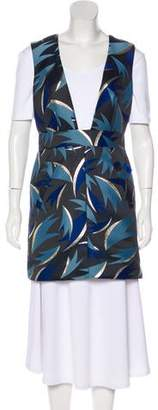 Diane von Furstenberg Plunging Neckline Shift Dress