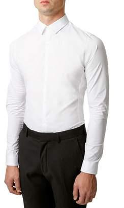 Topman Long Sleeve Woven Shirt