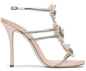 Rene Caovilla Rene' Caovilla Embellished Leather Sandals