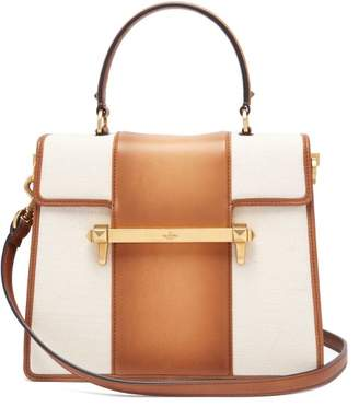 Valentino Uptown Leather Top Handle Bag - Womens - Tan Multi