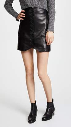 Helmut Lang Leather Vest Skirt