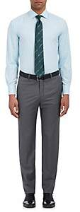 Barneys New York MEN'S TATTERSALL COTTON DRESS SHIRT-GREEN SIZE 16.5 L