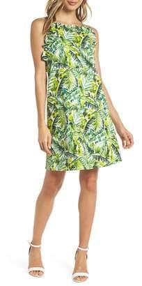 Sloane CLOVER AND Ruffle Top Shift Dress