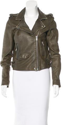 IROIro Zip-Accented Leather Jacket