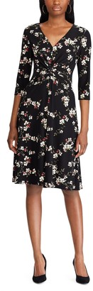 Chaps Women's Elbow Sleeve Fit and Flare Dress