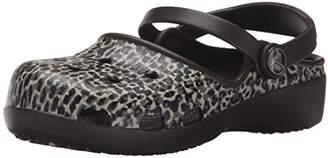 Crocs Karin Leopard K Mini Heel Clog (Toddler/Little Kid)