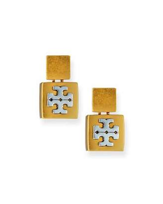 Tory Burch Block T Drop Earrings