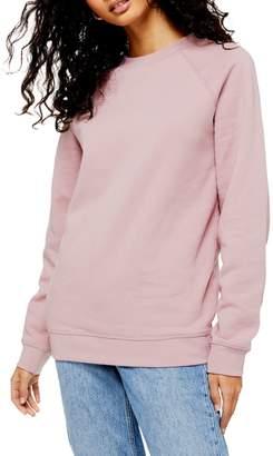 Topshop Classic Fit Crew Neck Sweatshirt