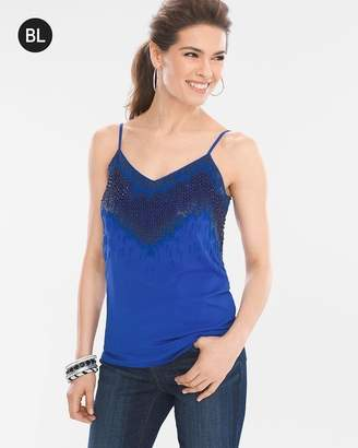 Chico's Chicos Beaded Layer Tank