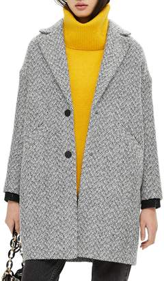 Topshop Herringbone Check Coat