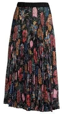 Romance Was Born Wildflower Pleated Midi Skirt