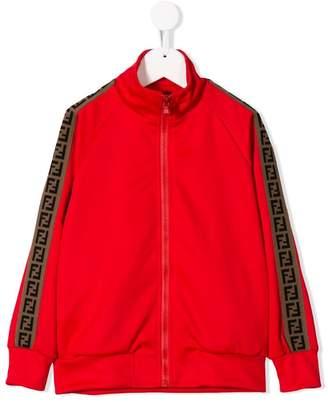 Fendi side stripe zip-up jacket