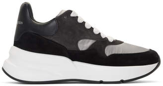 Alexander McQueen Grey and Black Oversized Runner Sneakers