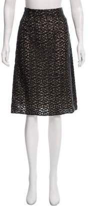 Akris Lace Knee-Length Skirt