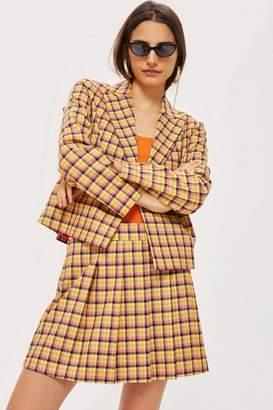 Topshop Petite Check Kilt Skirt