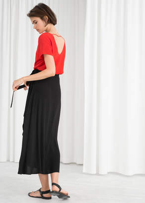 Low Back Crepe Top