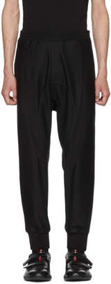 Neil Barrett Black Track Style Trousers