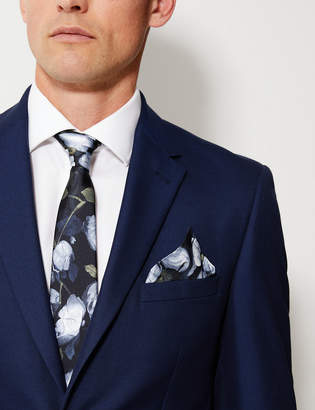M&S CollectionMarks and Spencer Silk Floral Design Pocket Square