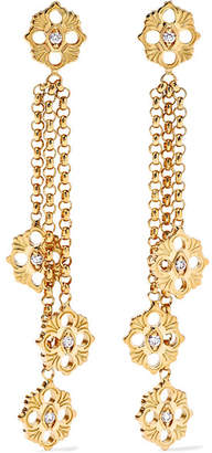 Buccellati Opera 18-karat Gold Diamond Earrings