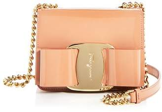 Salvatore Ferragamo Mini Vara Oversized Bow Patent Leather Crossbody