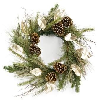 Loon Peak Glitter Pine Cone Wreath
