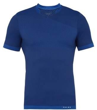 Falke Ess - Fitness Technical V Neck T Shirt - Mens - Blue