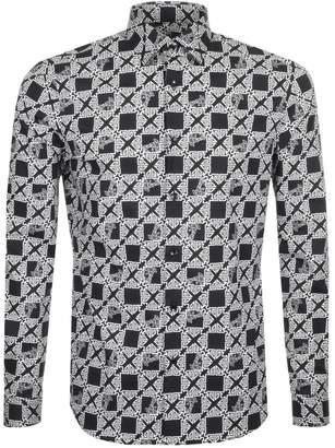 Versace Long Sleeved Logo Shirt Black
