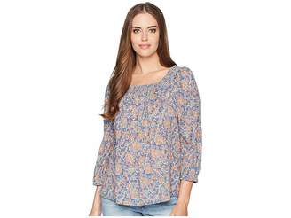 Chaps Crinkled Cotton Top Women's Blouse