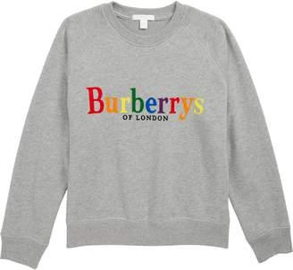 Burberry Elin Rainbow Logo Sweatshirt