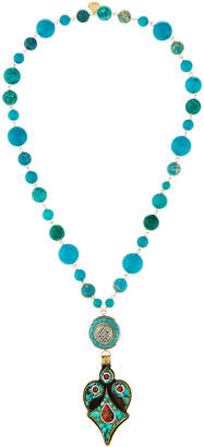 Devon Leigh Turquoise Mosaic Pendant Necklace