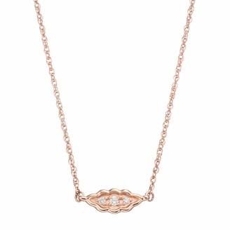 Lauren Conrad 10k Rose Gold Diamond Accent Leaf Necklace