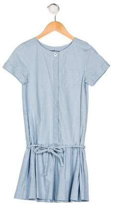 Lili Gaufrette Girls' Short Sleeve Pleated Dress
