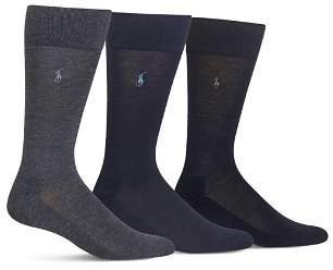Polo Ralph Lauren Cushioned Crew Socks - Pack of 3