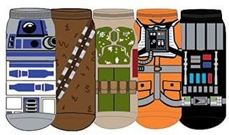 Star Wars Hypnotic Hats Mens Character Cosplay Socks 5 Pair