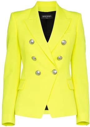 Balmain classic slim-fit wool blazer
