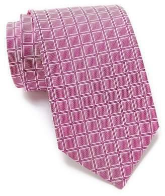 BOSS Silk Square Grid Tie