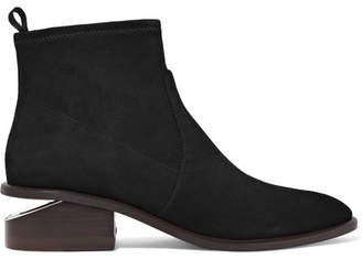 Alexander Wang Kori Cutout Suede Ankle Boots - Black