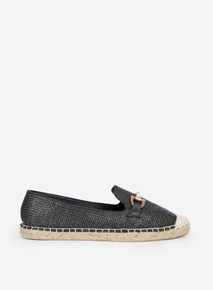 Dorothy Perkins Womens Wide Fit Black 'Capri' Espadrilles