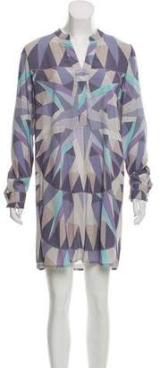 Mara Hoffman Printed Long Sleeve Mini Dress