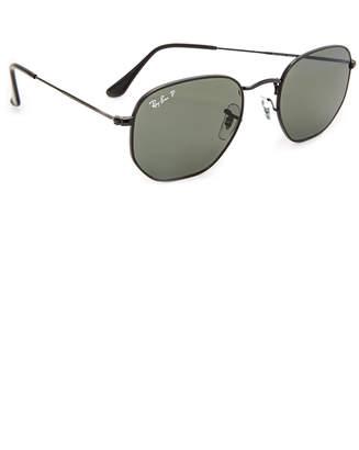 Ray-Ban Polarized Hexagonal Sunglasses
