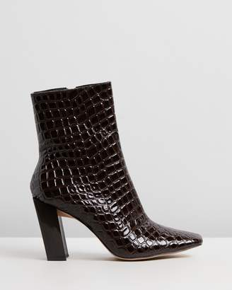 Missguided After Dark Croc Boots