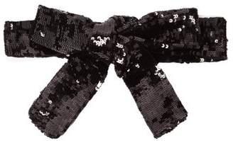ATTICO The Sequinned Wrap Belt - Womens - Black