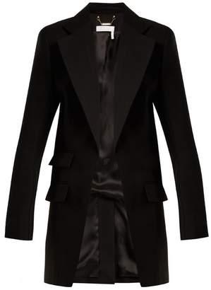 Chloé Notch Lapel Wool Blend Blazer - Womens - Black