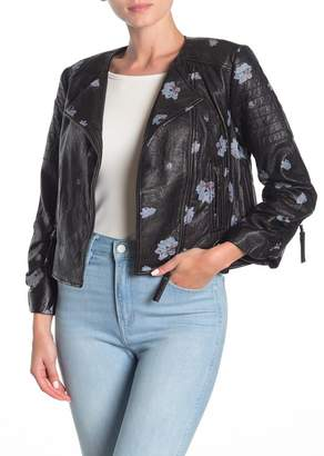 Joie Thisbe Floral Leather Jacket