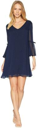 Bebe Trapeze Dress With Double Bell Sleeve Women's Dress