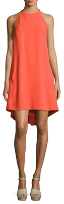 Maya Gathered Back High Low Dress $238 thestylecure.com